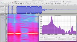 Sonar spectrogram